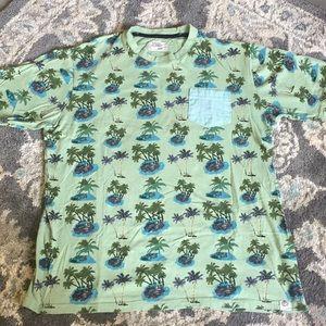 Free Planet Tropical Print Tshirt